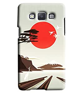 Blue Throat Scenery Printed Designer Back Cover/Case For Samsung Galaxy A7