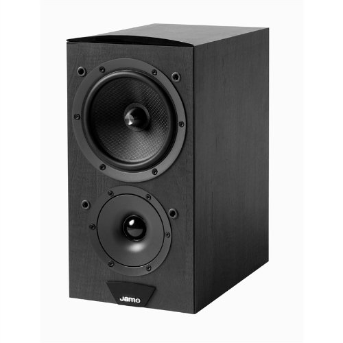 Jamo 100W Front Bookshelf Speakers, Black Ash