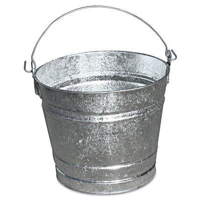 Galvanized Pail (Set of 12) Size: 10 Quart (10 Qt Steel Bucket compare prices)