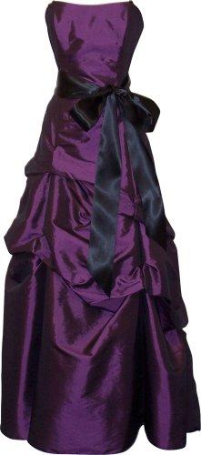 Bridesmaid Prom Long Dress, 3X, Eggplant