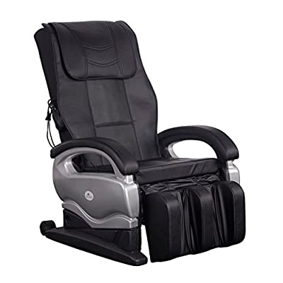 Pingkay New Electronic Intelligent Heated Vibrating Full Body Massage Chair Powerful Pu Leather Shiatsu Recliner