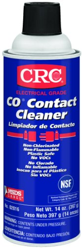 Crc Co Plastic Safe Liquid Contact Cleaner, 14 Oz Aerosol Can