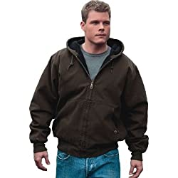 Dri-Duck Cheyenne Hooded Quarry Wash Canvas Jacket in Gravel - Small