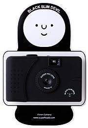 Black Slim Devil 35mm フィルム トイカメラ-superheadz Vivitar ultra wide & slim ワイドスリム