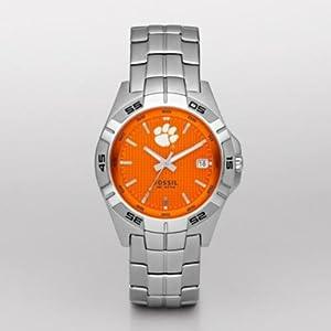 Amazon.com: Fossil Men's LI2734 NCAA Clemson Tigers 3-Hand Date Watch