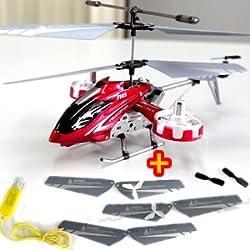 4ch赤外線コントロール ラジコンヘリコプター RCヘリ IRH100RD  【レッド】