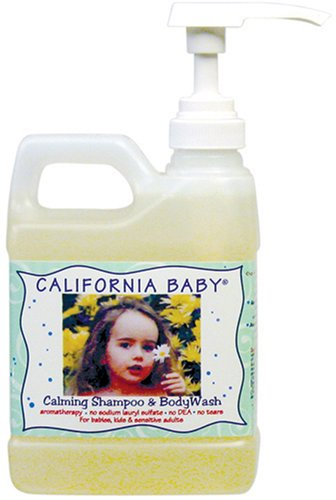 California Baby Calming Baby Shampoo and Body Wash, 17.5-Ounce Bottles (Pack of 2) - 1