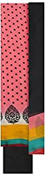 Threads Women's Italian Crab Dress Material (Th7024_Pink And Black)