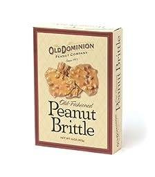 Old Dominion Peanut Company Old Fashioned Peanut Brittle 6 oz Pack of 4