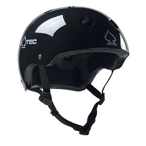 Protec Classic Helmet (Gloss Black, Medium)