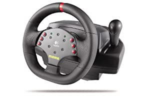 Logitech MOMO Racing - Wheel and pedals set - 6 button(s) - PC, MAC - black