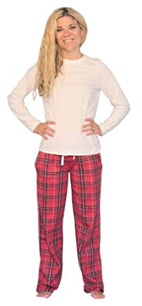 Women's Plaid Flannel Pajama Set by SleepytimePjs (Lrg)