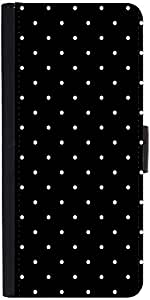 Snoogg Love Polka Graphic Snap On Hard Back Leather + Pc Flip Cover Apple Iph...