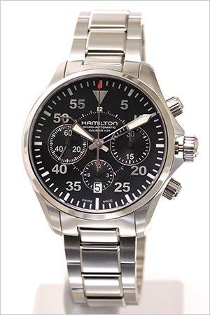 ハミルトン腕時計 [ HAMILTON時計 ]( HAMILTON 腕時計 ハミルトン 時計 ) カーキ パイロット オート クロノ ( KHAKI PILOT ) /メンズ時計/ブラック/H64666135 [ビジネス 海外モデル 逆輸入 レア 海外 正規品 高級腕時計]