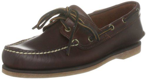 Timberland Men's Classic 2 Eye Boat Leather Shoe Brown 25077 6.5 UK