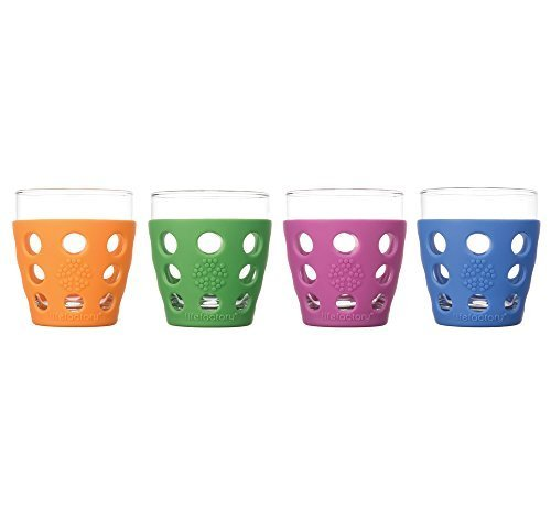 Lifefactory-10-oz-Everyday-Glassware-Small-Multicolor-Pack-of-4-by-Lifefactory