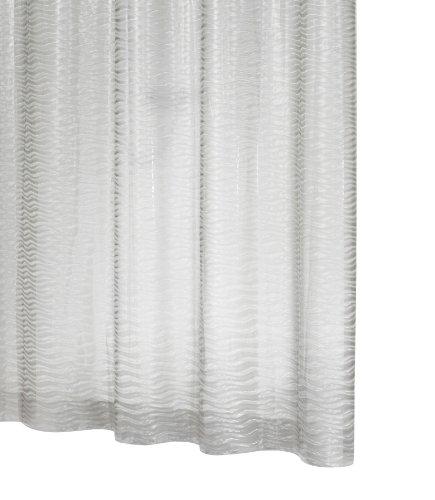 Ridder 358400-350 Exklusiver Duschvorhang Folie 180 x 200 cm Silk semi transparent mit integrierten Ösen