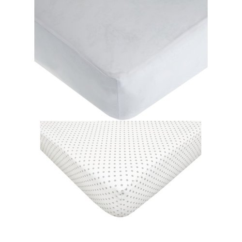 American Baby Company White Fitted Crib Sheet Bundle - 1