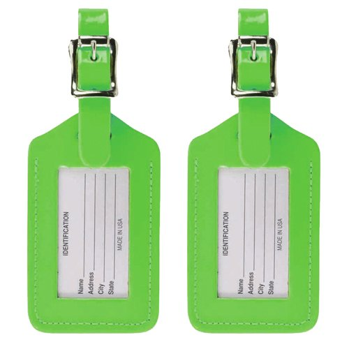 lewis-n-clark-2-pack-neon-leather-luggage-tag-green-one-size