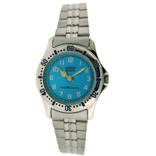 Lorus Round Stainless Ladies Watch Blue Dial RZK629L9