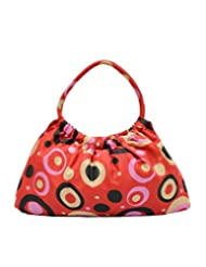 Anekaant Dotted Red Printed Cotton Hand Bag