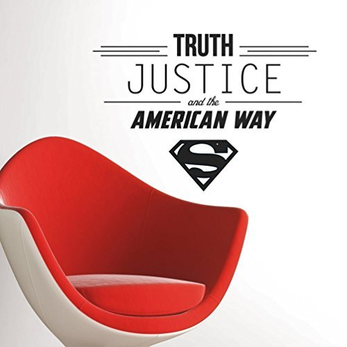 Lunarland QUOTE Wall Decals TRUTH JUSTICE AMERICAN WAY Room Decor Stickers LOGO (Classic Car Wallpaper Border compare prices)