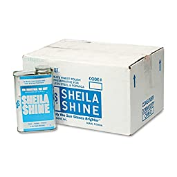Sheila Shine 2 Stainless Steel Cleaner and Polish, 1 quart Can (Pack of 12)