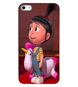 ColourCraft Cute Doll Design Back Case Cover for APPLE IPHONE 4S