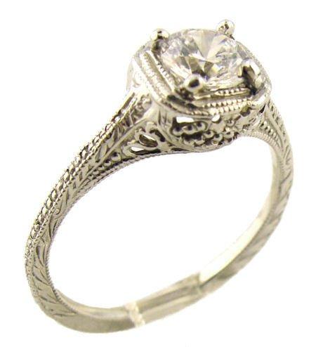 Cz Vintage Wedding Rings 20 Beautiful Vintage Style Sterling Silver