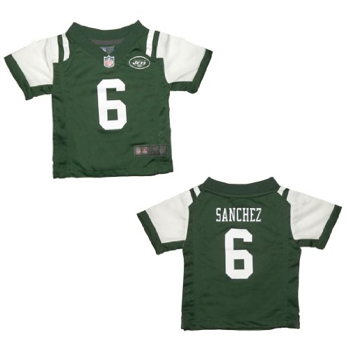 NFL New York Jets Sanchez #6 Infant Athletic Short Sleeve Jersey Shirt 24M Green & White at Amazon.com