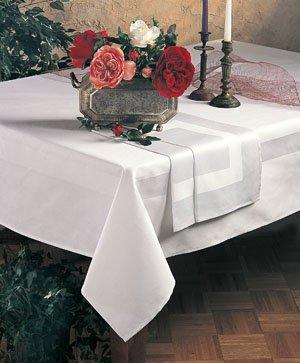 Satin Banded Damask Tablecloth 70