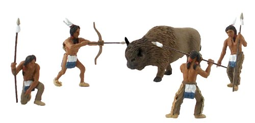 Woodland Scenics Scene-A-Rama Scene Setters Native American Hunt - 1