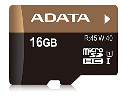 AData Premier Pro 16GB MicroSDHC UHS-1/U1 (45MB/s) Memory Card (With Adapter)