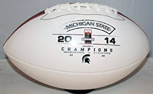 Buy Michigan State Spartans 2014 Rose Bowl Champions White Panel Football by Baden