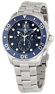 TAG Heuer Men's CAN1011BA0821 Aquaracer Blue Dial Watch by TAG Heuer