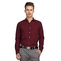 British Line Maroon Color Slim Fit Shirt