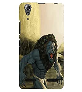 PRINTSHOPPII GOD ANGRY LION Back Case Cover for Lenovo A7000
