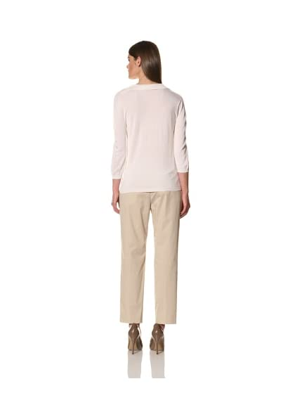 JIL SANDER Women's Cashmere-Silk Long Sleeve Sweater