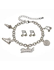Union J Music Charm Bracelet & Earrings