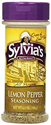 Sylvia\'s Lemon Pepper Seasoning, 5.5-Ounce Containers (Pack of 12)