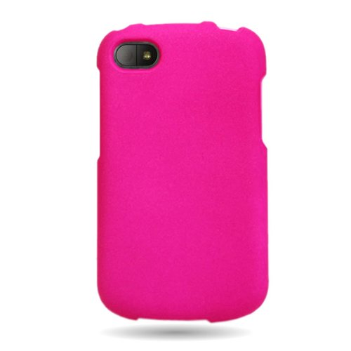 Coveron(Tm) Matte Snap-On Hot Pink Rubberized Hard Case Cover For Blackberry Q10 Att / Verizon / Sprint With Pry-Triangle Case Removal Tool [Wcm862]