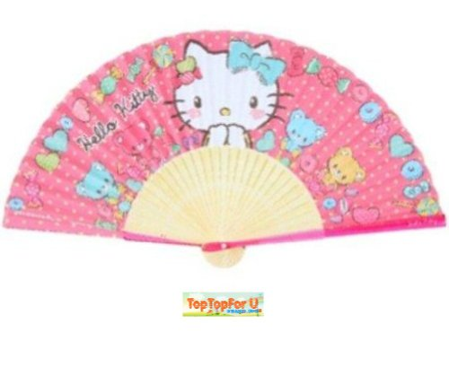 Authentic Sanrio Hello Kitty Handheld Foldable Paper Fan