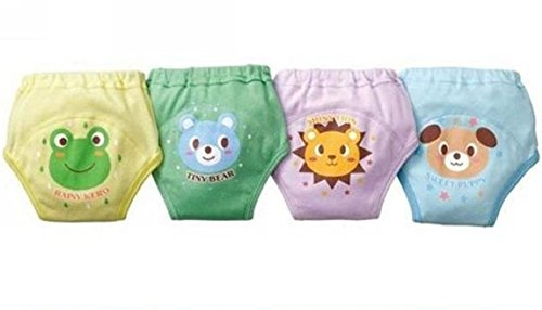 Tai523 4 X Baby Toddler Boys Cute 4 Layers Waterproof Potty Training Pants Reusable (95)