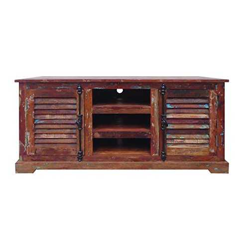 Yosemite Home Decor YFUR-SBA5141 Reclaimed Media Stand, Hand Painted Reclaimed Wood Finish (Shutter Media Console compare prices)