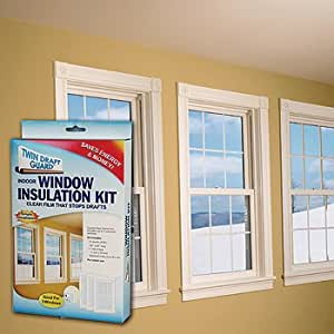 Twin draft guard three window insulation kit for Window insulation kit