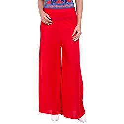 Diva Boutique Women's Palazoo (rl-01_Red_28)