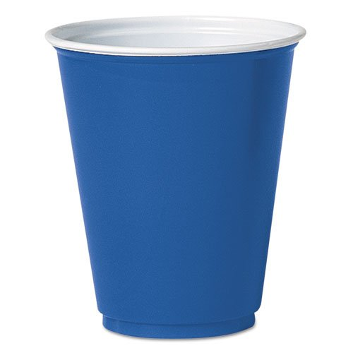 SOLO Cup Company Party Plastic Cold Drink Cups, 7oz, Blue - Includes 20 packs of 50 cups.