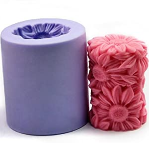 Amazon.com: Flower Candle Mold Silicone Soap Mold Candle