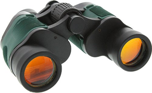 Se - Binocular - Black Body With Green Inserts, Dual Lens, 7X35 - Bc20735