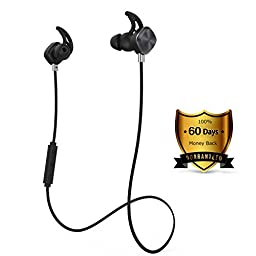 Wireless Headphones, Origem Bluetooth 4.1 Sports Sweatproof In-ear Earbuds Earphones Headset Noise Cancellation Built-in Mic for Sports Running Gym Hiking Jogger Exercise Workout